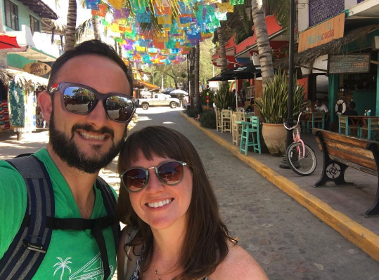 My wife Courtney and I in Sayulita, Mexico.