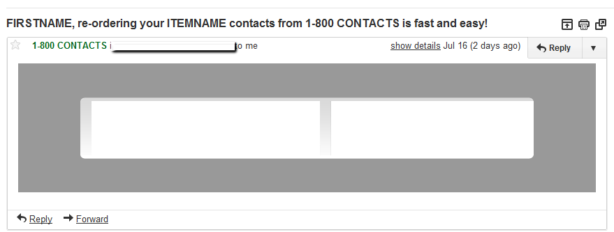 1800 Contacts Form Letter Fail