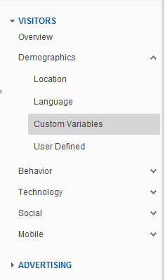 Custom Variables Location in GA
