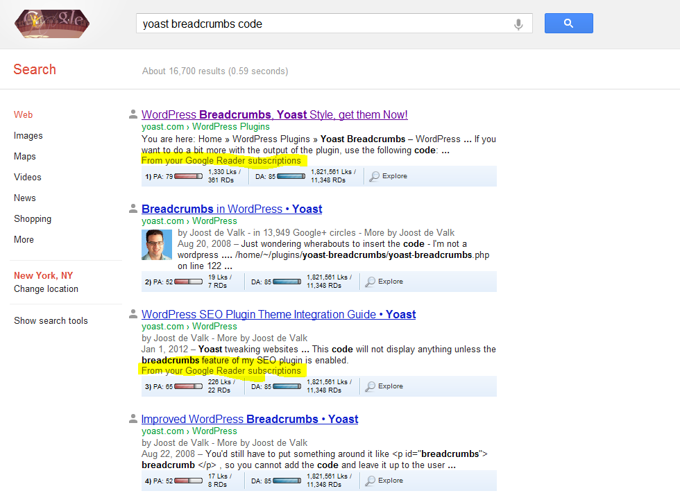 Google Testing Reader Subscriptions in Search Results
