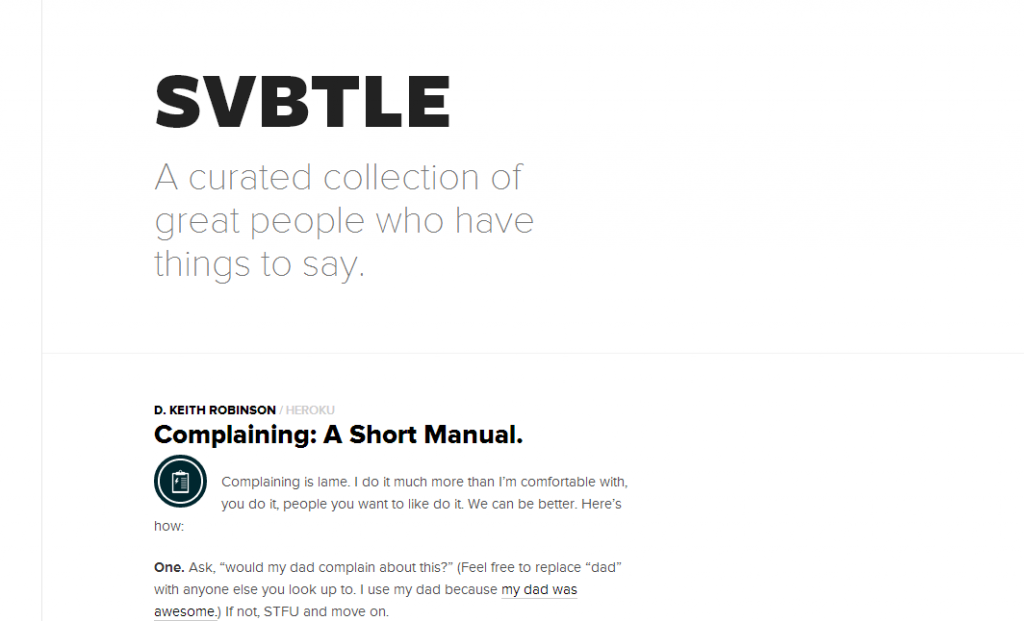 svbtle homepage