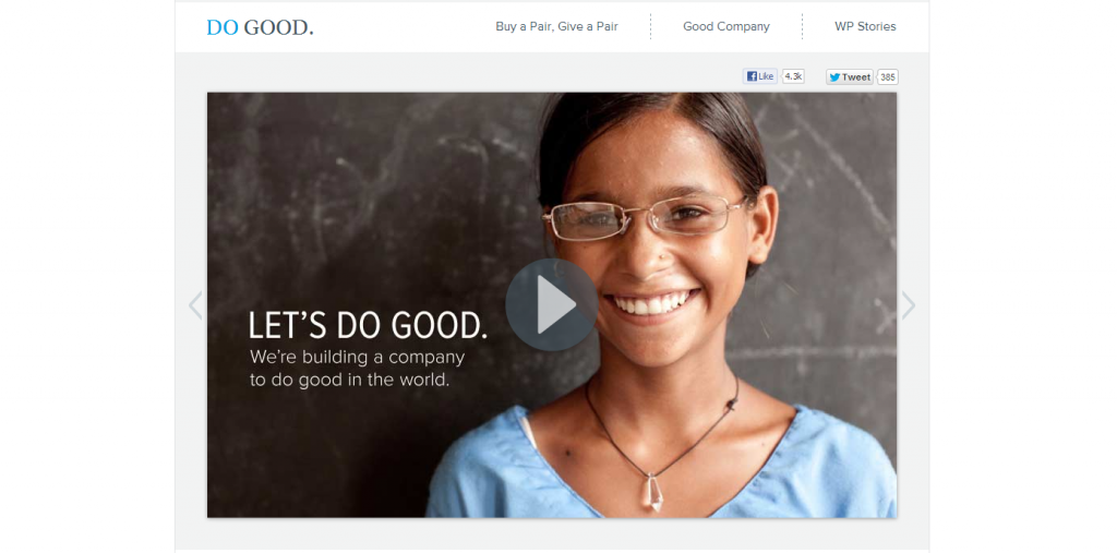 Warby Parker Do Good Campaign
