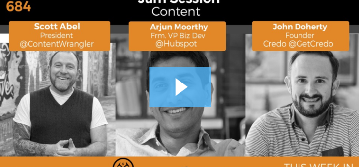 On TWiStartups talking technical startup content marketing