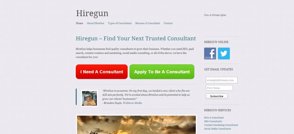 The original homepage
