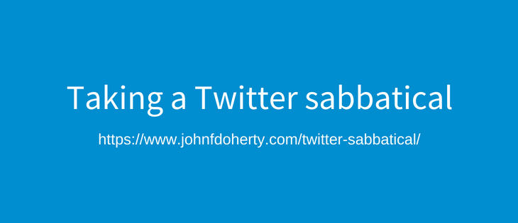 Taking an August Twitter sabbatical
